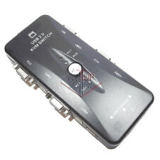 KVM SWITCH 4 in 1 TASTIERA MOUSE MONITOR USB 2.0 VGA PC WINDOWS LINUX STAMPANTE