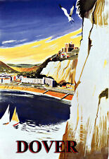 Art Ad Cliffs of Dover Southern British Railways  Rail Travel  Poster Print