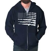 United States of America Flag 2nd Amendment Zipper Sweat Shirt Zip Sweatshirt