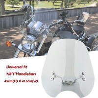 "Universal For 7/8""&1"" Motorcycle Smoke Windshield Windscreen Mount Kit Handlebar"