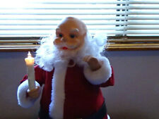 Vintage TELCO 1989 Animated Santa with Candle and Music