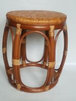 Rattan Natural Handmade Wicker Stool Plant stand/Side table model Larry