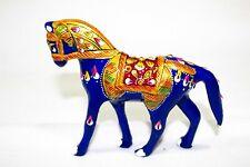 Handmade Metal Meenakari Painting Art Horse Statue Idol Statue Home Decor Gift