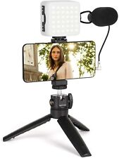 Smartphone Video Kit, FLASHOOT Camera Microphone Kit with...