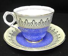 Vintage Royal Stafford Blue Mottled Tea Cup and Saucer
