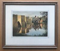 Original Art Watercolour Painting Maybush Newbridge Oxfordshire AE Beningfield