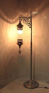 floor lamp mid century floor lamp standing lamp glass metal floor lamp Pyrex
