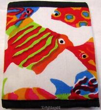 Wallet Purse 100% Cotton Tropical Fish Print 12 x 10 cm Folded Tri Fold