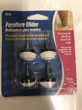 NEW! HARDWARE Plastic Nail-On For Wooden Furniture Glides 4-Pack