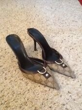 6f7c748ad GUCCI MONOGRAM HORSEBIT PUMPS HEELS MULES SHOES