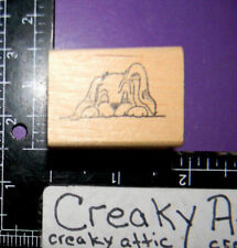 CUTE PUPPY LONG EARS CLOSE UP RUBBER STAMP AFFAIR MAINE STREET