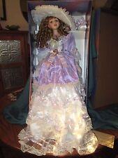 """Large 25"""" Ashley Belle """"Violet"""" porcelain doll *Nib * Coa"""