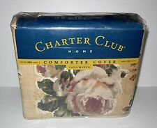 Charter Club Queen / Full Duvet Cover Only Decoupage Rose