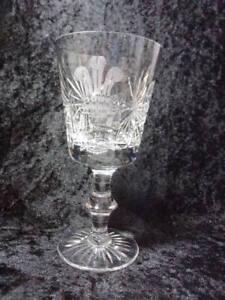 EDINBURGH LEAD CRYSTAL LARGE WINE GLASS, ROYAL COMMEMORATIVE 1981.
