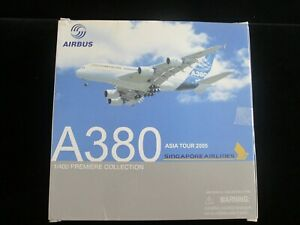 Dragon Wings 1:400 Singapore Airlines Airbus A380-800 F-WWOW (55880) Model Plane