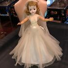 "Vintage 20"" Madame Alexander CISSY Doll Blonde Tagged Gown Bride"