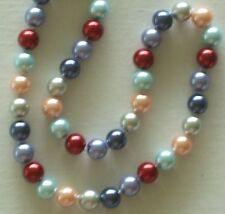 """10MM Multicolor #7 AAA South Sea Shell Pearl Necklace 18"""" NEW (with gift bag)"""