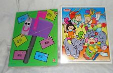 "Vintage Playskool Mattel Heavy Duty 12"" x 9.5"" Thick Toddler Puzzles Child Toy"