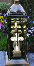 Grablicht 37cm Grablaterne LED Lampe Grableuchte Glas Grabschmuck Kreuz weiß 30