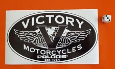 VICTORY POLARIS Motorcycle Sticker Vintage Decal  200m x 115mm