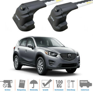 Mazda CX-5 Roof Rack Cross Bars Spacial Series Black Color 2011-2017 Fix Point