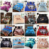 Animal Print 3D Panel Duvet Quilt Cover Bedding Set With Matching Pillow Cases