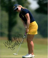Morgan Pressel LPGA star hand signed autographed 8x10 golf photo coa