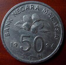 1994 Bunga Raya 50 Cents Coin High Grade #B184