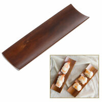 2X Wooden Dumpling Sushi Serving Tray Oblong Plate Dish Snack Tray