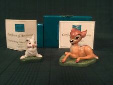 "WDCC Bambi ""The Young Prince"" & Thumper ""Did the Young Prince Fall Down?"" New"
