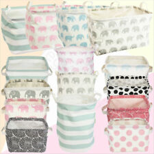 Gisela Graham Canvas Storage Bags Basket Laundry Toys Fabric Storage Bags Tubs
