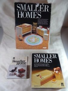 Vintage TOMY Smaller Homes EMPTY BOXES - Nursery, Bathtub + and Cat/Living Room