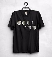 Various Lunar Phases Moon T Shirt Top Science Geek Nerd Gift Astronomy Space
