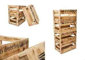 6er Set Weinkisten aus Holz Holzkiste Allzweckkiste Weinregal Holzbox rustikal