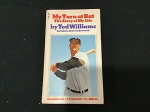 My Turn At Bat The Story Of My Life Vintage 1970 Paperback Book By Ted Williams