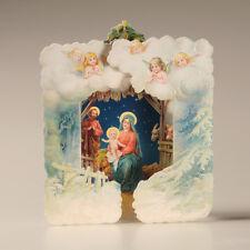 + Nostalgische POP UP WEIHNACHTSKARTE  3 D  Weihnachten Nikolaus Weihnachtsmann