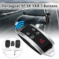 5 Buttons Uncut Remote Key Cover Case Fob Shell Repaace For Jaguar XF XK XKR