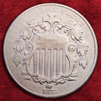 1873-P SHIELD NICKEL 5 CENTS, CLOSED 3, DDO FS-101 (FS-008,008.85) *AU* RARE!!!