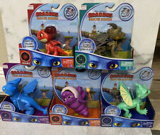 NETFLIX Dragons Rescue Riders ARGO BURPLE CUTTER WINGER SUMMER Toys Set of 5 NEW