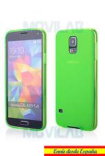 Funda carcasa gel / TPU Samsung Galaxy S5 G900 verde fluor antihuellas