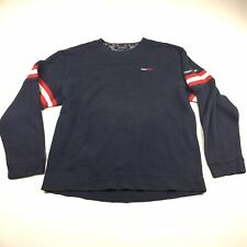 Vintage 90's Tommy Jeans Longsleeve Sweat Shirt Sweater Blue Size XL-L