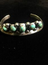 """""""Very Rare"""" 925 Sterling Silver Native American Turquoise Bracelet"""