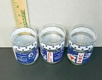 Vintage Libbey Apollo 13 1970 Moon Landing Set of 3 Drinking Glass Souvenirs
