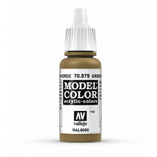 Vallejo Model Color: Green Brown - VAL70879 Acrylic Paint 17ml Bottle 114