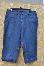 Women's New York & Company 100% cotton Blue Capri pants size 12