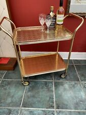 Vintage Retro Gold Texture Patterned 2 Tier Cocktail Drink Serving Tea