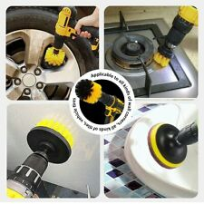 3Pcs Car Wheel Tire Rim Scrub Cleaning Brush Drill Kit Wash washing Tool Cleaner