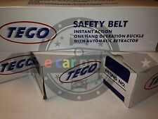 2 X 2 SETS = 4 SEAT BELTS  TEGO 3 POINT RETRACTABLE BELTS 2 SOLID STALKS 2 SOFT