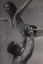 1935 Vintage FITNESS Acrobat Man Woman Gymnast DENMARK Photo Art SIGURD FISCHER