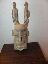 "Arts of Africa -  Old Dogon Bird Mask - Mali - Burkina Faso - 20"" Height x 8"" W"